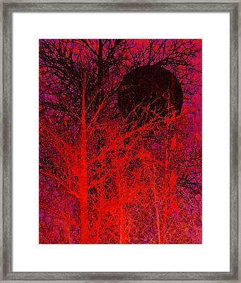Black Moon Framed Print by Richard Rizzo