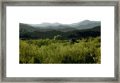 Black Mountains Framed Print by John Scariano