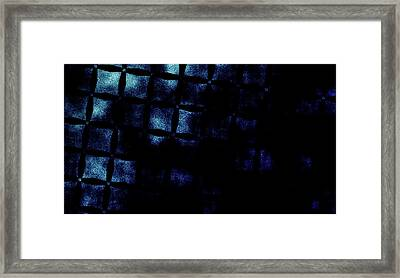 Black N Blue Burn Framed Print