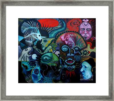 Black Note Framed Print