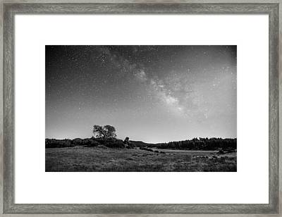 Framed Print featuring the photograph Black Oak And Milky Way by Alexander Kunz