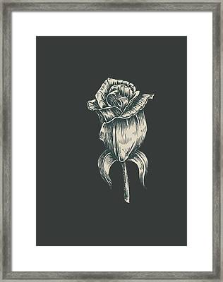 Framed Print featuring the digital art Black On Black by ReInVintaged