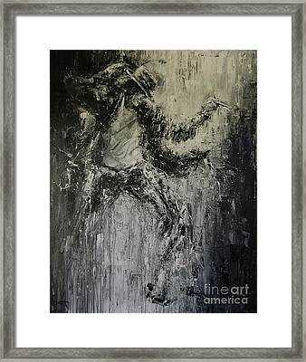Black Or White Framed Print by Dan Campbell