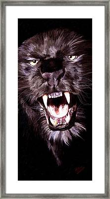 Framed Print featuring the painting Black Panther by James Shepherd