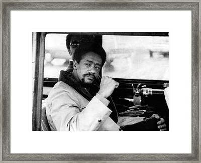 Black Panther Leader Bobby Seale Framed Print by Everett