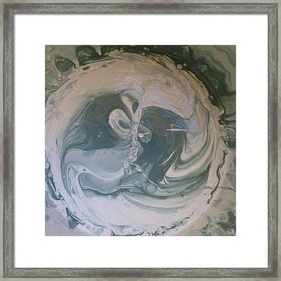 Black Panthers Kissing In Ice Cave Framed Print by Gyula Julian Lovas