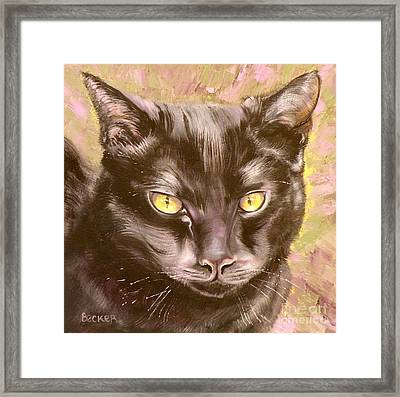 Black Pearl Framed Print