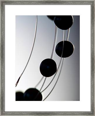 Black Pearls Framed Print