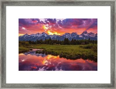 Black Ponds Sunset Framed Print by Darren White