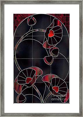 Black Poppies Framed Print by Mindy Sommers
