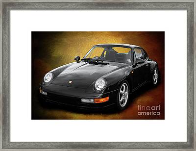 Black Sports Car Framed Print