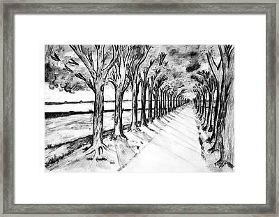 Black Promenada Framed Print by Ramona Matei