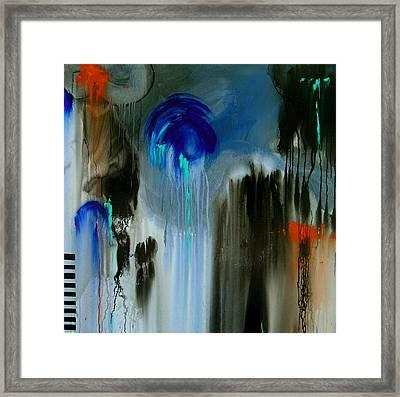 Black Rain Framed Print by Nicole Lee