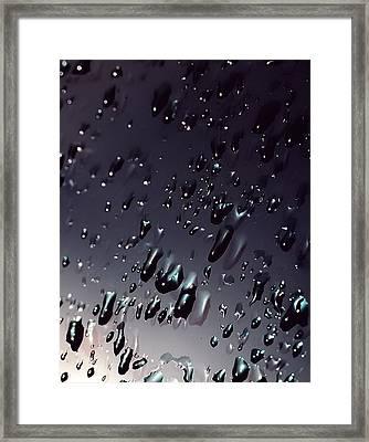 Black Rain Framed Print