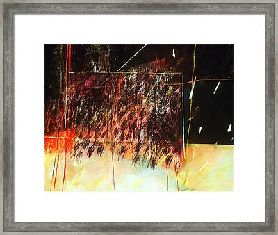 Black Rain Framed Print by Sue Reed