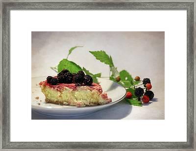 Black Raspberry Cheescake Framed Print by Lori Deiter