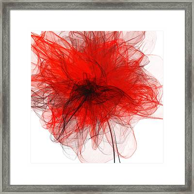 Black Red And Gray Art Framed Print by Lourry Legarde