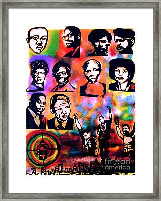 Black Revolution Framed Print by Tony B Conscious
