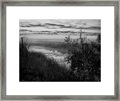 Black River Morning Framed Print