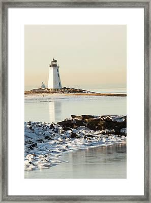Black Rock Harbor Framed Print
