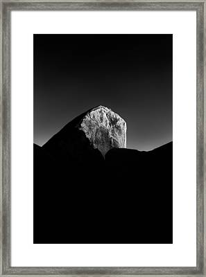 Black Rock Framed Print by Joseph Smith