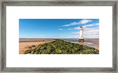 Black Rock Lighthouse Framed Print by Adrian Evans