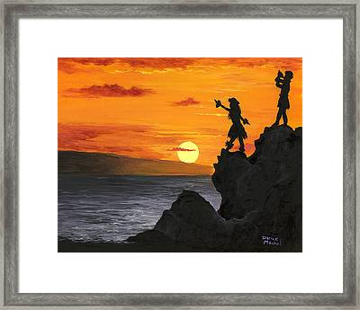 Framed Print featuring the painting Black Rock Maui by Darice Machel McGuire