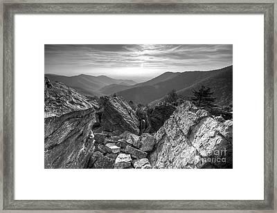 Black Rock Mountain Shenandoah National Park Framed Print by Dustin K Ryan