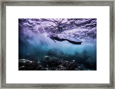 Black Rock Framed Print