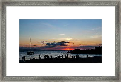 Black Rock Sunset Framed Print