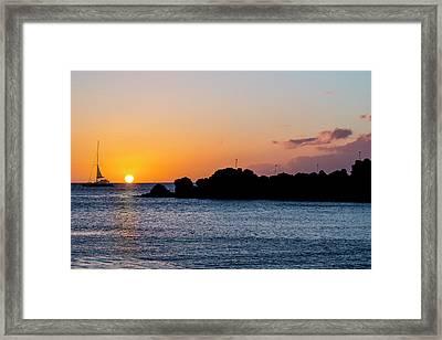 Black Rock Sunset Framed Print by Kelley King
