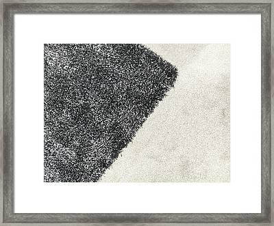 Black Rug Framed Print by Tom Gowanlock