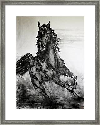 Black Runner Framed Print