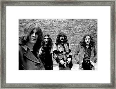 Framed Print featuring the photograph Black Sabbath 1970 #5 by Chris Walter