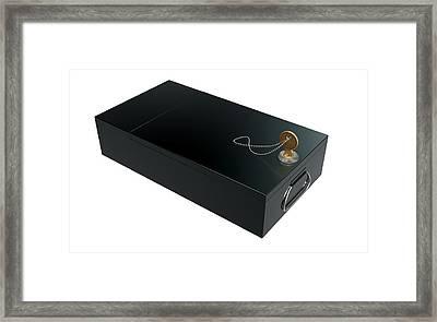 Black Safe Deposit Box Framed Print