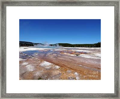 Black Sand Basin In Yellowstone National Park Framed Print by Louise Heusinkveld