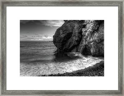 Black Sand Beach Framed Print