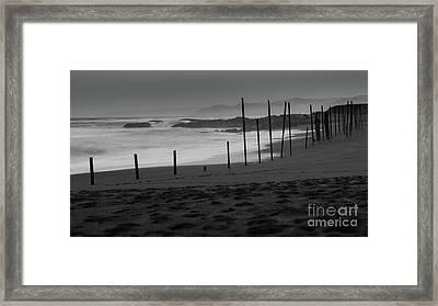 Black Sand Monochrome Framed Print
