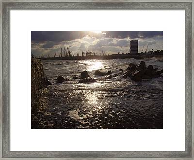 Framed Print featuring the photograph Black Sea by Evelina Popilian