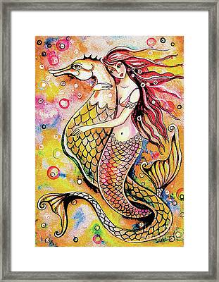 Black Sea Mermaid Framed Print