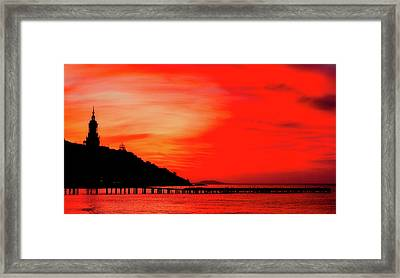 Black Sea Turned Red Framed Print by Reksik004