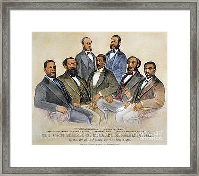 Black Senators, 1872 Framed Print