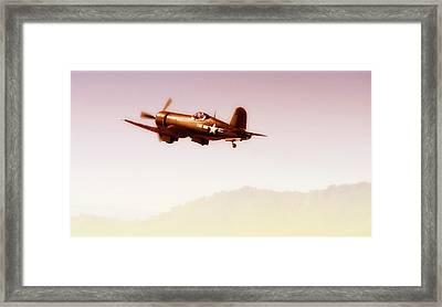 Black Sheep Off Voght F4u-4 Corsair  Framed Print by Gus McCrea