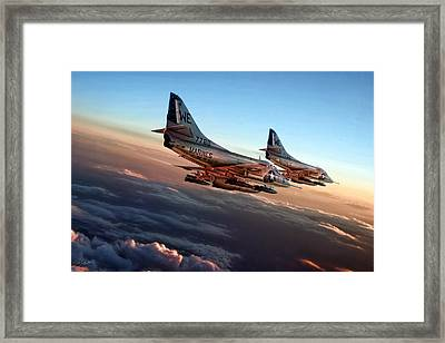 Black Sheep Skyhawks Framed Print by Peter Chilelli