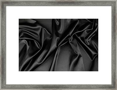 Black Silk Fabric Framed Print by Les Cunliffe