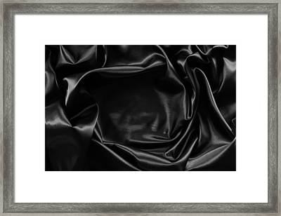 Black Silk  Framed Print by Les Cunliffe