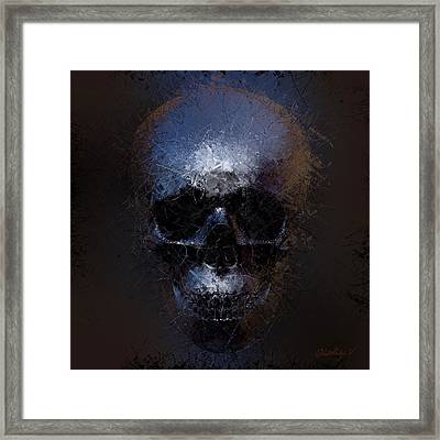 Framed Print featuring the digital art Black Skull by Vitaliy Gladkiy