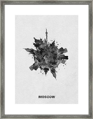 Black Skyround Art Of Moscow, Russia Framed Print