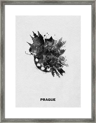 Black Skyround Art Of Prague, Czech Republic Framed Print