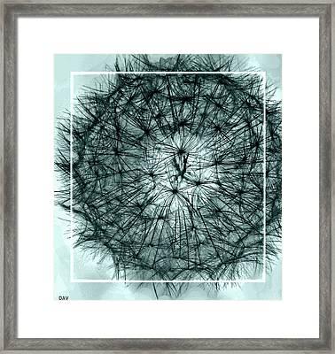 Black Sphere Framed Print by Debra     Vatalaro